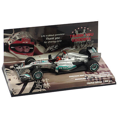 Michael Schumacher F1 CAR 1:43 Minichamps Last Race Brazil GP 2012
