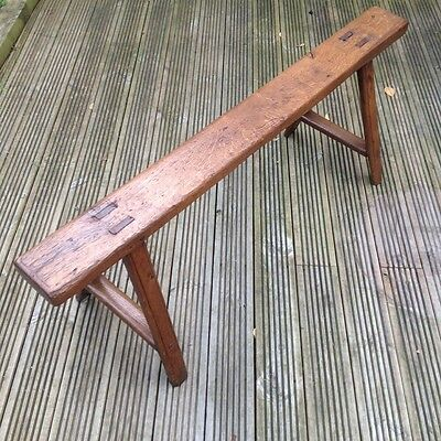 Antique late 18th century French oak bench truly one of a kind item