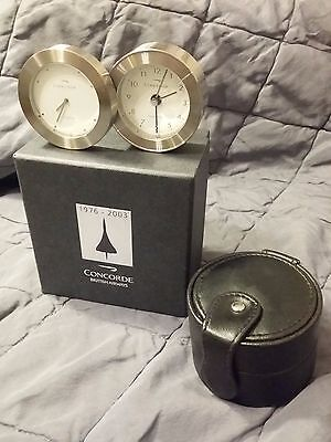 British Airways Concorde Links of London Dual Time Travel Clock Mint Condition