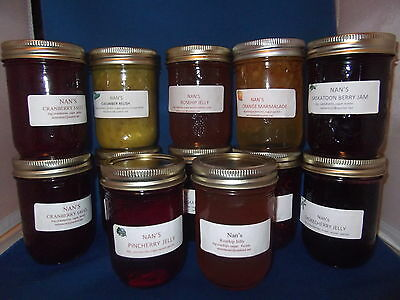 Nan's Homemade Jam Jelly Preserves Choose 6 jars