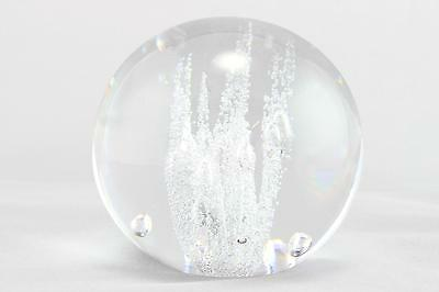 A midcentury Vicke Lindstrand glass bubble sculpture/paperweight for Kosta Boda