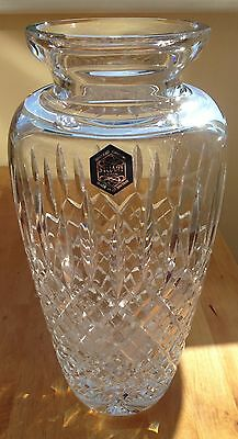 Large Signed Stuart Crystal Shaftesbury Pattern Vase