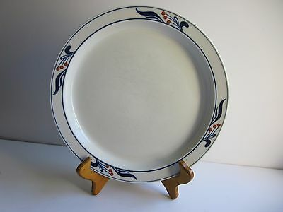 DANSK Bistro MARIBO White Blue Two DINNER PLATES Berries Japan