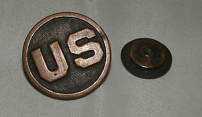 WWI US Collar Disc with Nut, United States Army