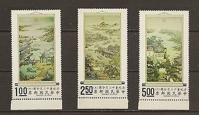 CHINA Taiwan 1970-71,Sc#1685-87,12 Months Scrolls, Paintings, MNH. O.Gum.