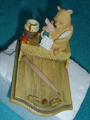 Classic Pooh Border Fine Art Pooh And Piglet Note Holder -  Pooh At Home A3386