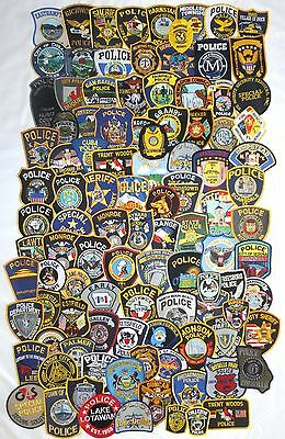 Mixed Lot with 104 different US/Int. Police Patches  NEW!