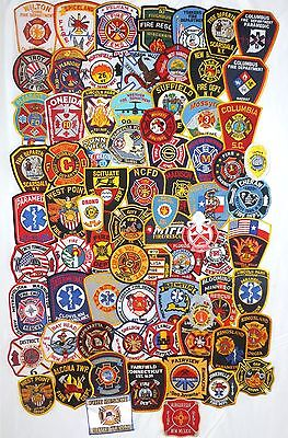 Mixed Lot with 75 different Fire Dept. Firefighter Patches  NEW!