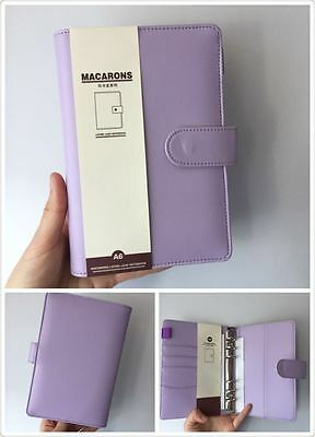 light purple macaron cute planner organizer binder personal size PU leather NEW