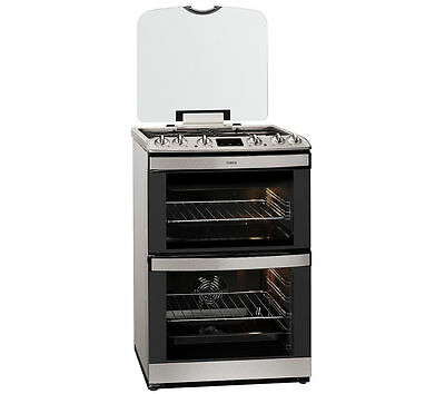 AEG 47132MM-MN 60cm Stainless Steel Double Oven Dual Fuel Cooker