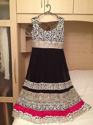 Indian Black Anarkali Suit Size 14
