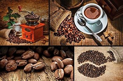 Coffee Photo Wallpaper Coffee Collage Mural Wallpaper XXL Wall Decoration For X