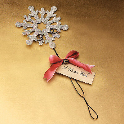 Wendy Addison SILVER ~GLITTER SNOWFLAKE WAND or FLORAL PICK~ Retired & NWT!