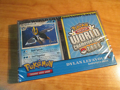 COMPLETE Pokemon EMPOTECH World Championship 2008 Card DECK Dylan Lefavour TCG
