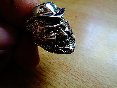 Freddy Krueger Ring Size 12 Nightmare Forehead Stamp Pin Patch Hat Shirt Claw