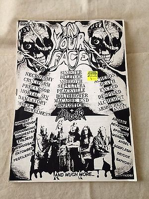 IN YOUR FACE - Issue 1 (White) - Australian Heavy Metal ZINE (1991)