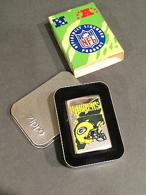 Green Bay Packers Discontinued Design Zippo Lighter 1999 Nfl  New W/seal & Box!