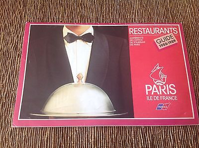 Collectible Paris Restaurant Guide From1988-1989