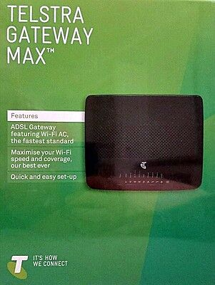 TELSTRA GATEWAY MAX TG799 ADSL Wi-Fi AC MODEM + CABLES etc Brand New & UNUSED