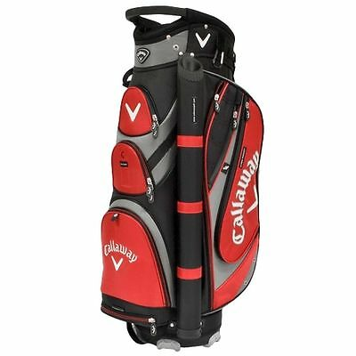 Callaway Forrester Cart Golf Bag - Black/charcoal/red - New In Box - Value Plus!