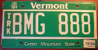 2009 Vermont Green Mountain State Graphic License Plate Maple Tree Vt Triple 888