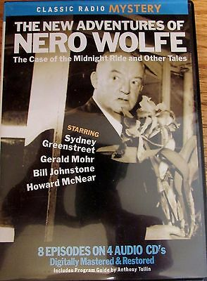 Classic Radio Mystery The new adventures of Nero Wolfe 8 episodes 4 cds