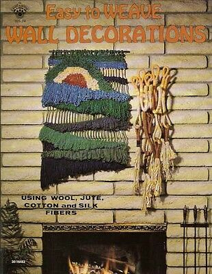 Easy to Weave Wall Decorations Vintage Instruction Pattern Book 1977 NEW
