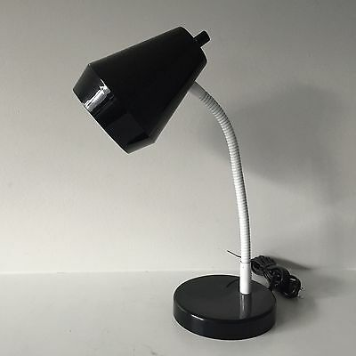Adjustable Gooseneck Desk Lamp with Plastic Shade Retro-Style