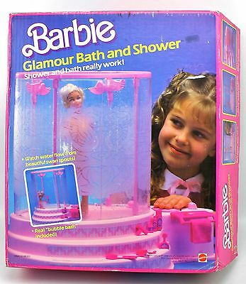 NEW 1985 Barbie Glamour Bath & Shower vintage Playset Mattel 2552