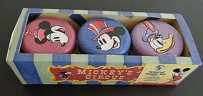 MICKEY'S CIRCUS Scented Candle Set 3 Decorative Tins DISNEY Minnie Donald NEW