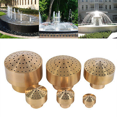 "1/2"" 1/4"" 3/4"" 2"" 3/2"" Brass Water Fountain Nozzle Spray Sprinkler Head Garden"