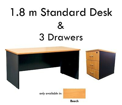 Office Desk 1500 x750 Business Executive Student Computer Home Table Study BEECH