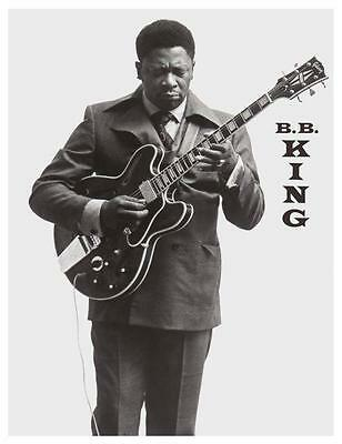 BB King POSTER Blues Guitar KING - AMAZING Picture IMAGE Gibson LUCILLE ES-355