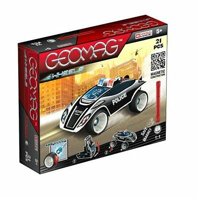 Geomag Wheels Police Race car 21 PCS Magnetic Construction Creation