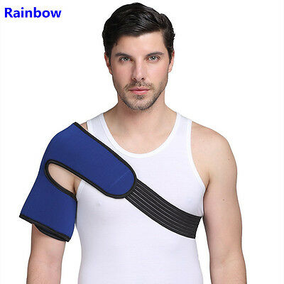 Rainbow Man Cold hot packs Gel Ice Pack with Wrap for shoulder big size