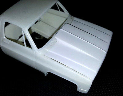 LEX'S SCALE MODELING Resin Cowl Hood  MPC & other GMC/Chevy Pickups '81-87 1/25.