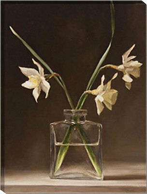 Framed Painting by Number kit A Bottle of Orchid Flower Blossom Floral HT7030