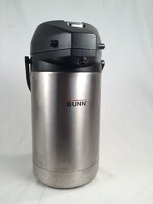 BUNN 32125 Stainless Steel 2.5 Liter Lever-Action Coffee Airpot Thermal Carafe