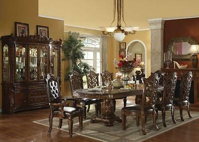 Acme Vendome 60000-Set  Formal Cherry Double Pedestal Dining Table Set 5pcs
