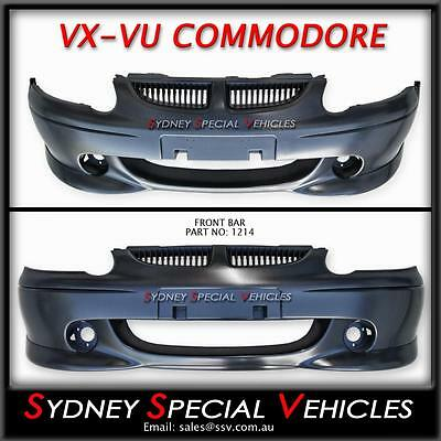 Front Bumper Bar For Vu Vx Commodore - S Pack / Ss Style Brand New Plastic