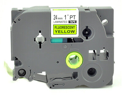 24mm Black on Fluo Yellow TZ-C51 Label Tape Compatible Brother TZe-C51 P Touch