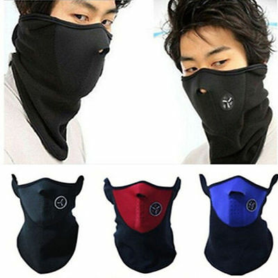 Winter Balaclavas Neoprene Neck Warm Veil Sport Motorcycle Ski Bike Face Mask AU