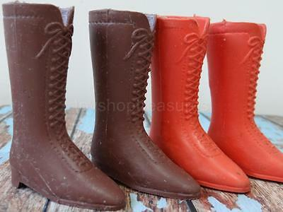 Vintage Crissy Chrissy Doll Shoes Boots - Brown - Orange - 2 Pairs
