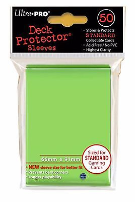 Ultra Pro Deck Protector Sleeves x50 - Lime Green - ideal for MTG, Pokemon etc
