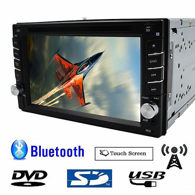 6.2'' 2 Din In Dash Ipod Autoradio Car Stereo DVD Player RDS Receiver Bluetooth