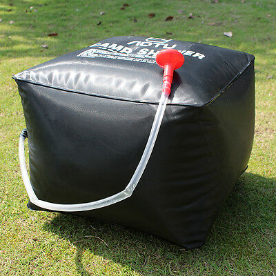 Portable 40L Camping Hiking Solar Energy Heated Camp Shower Pipe Bag Room