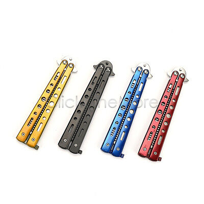 Balisong Butterfly Metal Practice Trainer Training Comb Practice Dull Tool