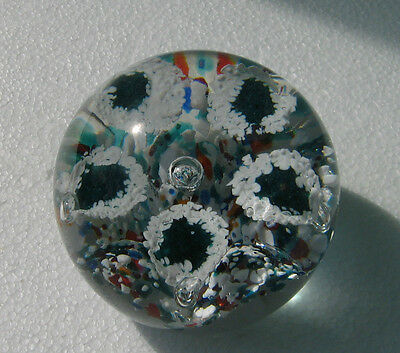 Collectable Glass Paperweight Controlled Bubbles