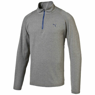Puma Golf Solid 1/4 ZIP POPOVER Sweater Pullover Dry Cell grau