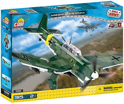 Bricks Cobi 5521 Junkers Ju 87 B Stuka Plane Small Army Element 315 Ww2
